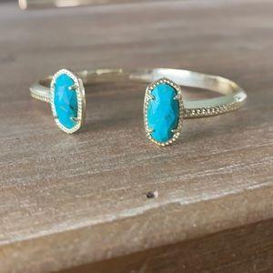 Kendra Scott Elton Bracelet gold and turquoise